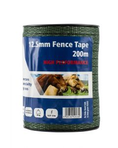 Fenceman 12.5mm High Performance Electric Fencing Tape Green - Cheshire, UK