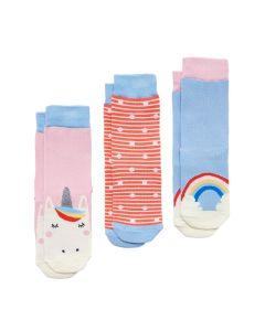 Joules Junior Girls Brilliant Bamboo 3 Pack Socks