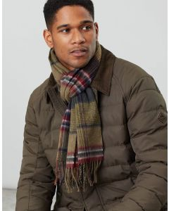 Joules Mens Tytherton Wool Check Scarf