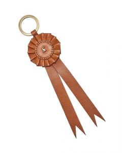 Joules Coleford 30th Anniversary Leather Rosette Keyring