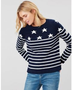 Joules Ladies Seaport Roll Neck Raglan Jumper