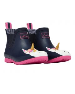 Joules Kids Girls Wellibob Short Wellington Boots