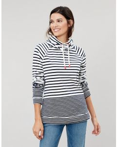 Joules Ladies Mayston Funnel Neck Velour Sweatshirt
