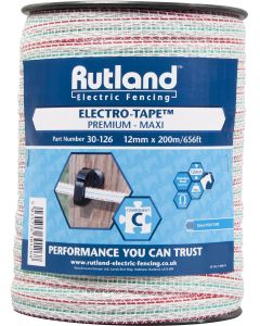 Rutland 12mm Maxi Electro-Tape White