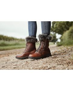 Dublin Ladies Bourne Lace Up Boots Red Brown