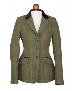 Shires Childrens Aubrion Saratoga Tweed Jacket Red/Yellow/Blue Check