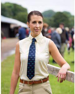 Shires Ladies Sleeveless Tie Show Shirt Yellow