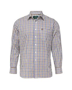 Alan Paine Mens Ilkley Check Shirt Brown