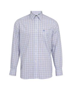 Alan Paine Mens Ilkley Country Check Shirt Blue / Beige