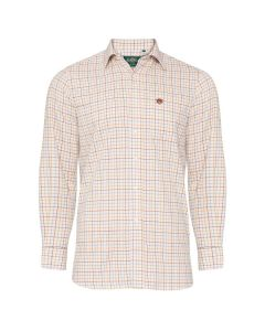 Alan Paine Mens Ilkley Country Check Shirt Brown