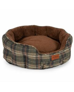 Ancol Heritage Dog Bed Green Check - Chelford Farm Supplies