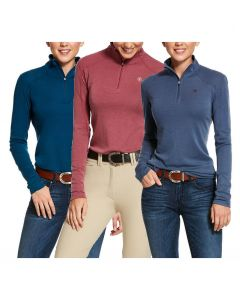 Ariat Ladies Cadence Wool 1/4 Zip Baselayer