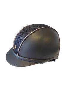 Charles Owen Ayr8® Plus With Piping Leather Look Riding Hat