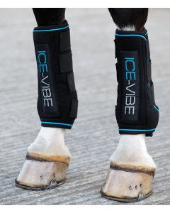 Horseware Ice-Vibe Boots Set Black/Aqua