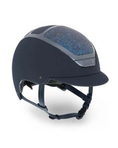 KASK Dogma Chrome Light Riding Helmet Swarovski Midnight Navy
