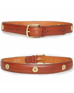 Hicks and Hides Men's Broadway Multi Field Belt Cognac - Chelford Farm Supplies