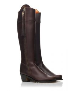 Fairfax & Favor Ladies Heeled Regina Leather Boot Mahogany