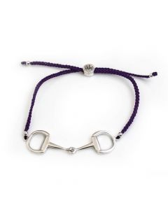 Hiho Silver Snaffle Friendship Bracelet Purple - Chelford Farm Supplies