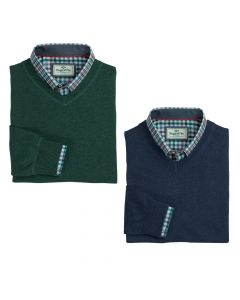 Hoggs of Fife Mens Stirling V-Neck Jumper