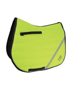 Hy Equestrian HyVIZ Reflector Comfort Saddle Pad Yellow - Chelford Farm Supplies