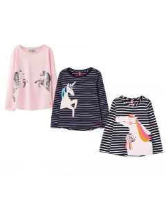 Joules Kids Ava Applique Jersey Long Sleeve Top