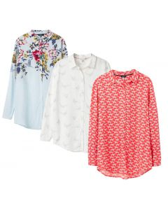Joules Ladies Elvina Button Front Woven Top