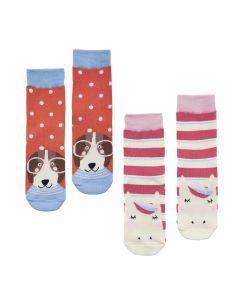 Joules Junior Girls Neat Feet Character Socks