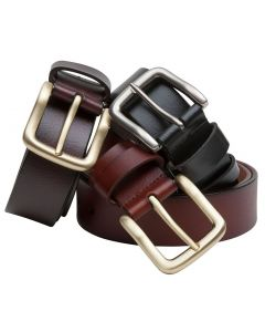 Hoggs of Fife Luxury Leather Belt Dark Brown