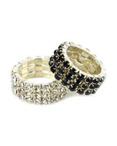 Lincoln Diamante Plaiting Bands  - Chelford Farm Supplies