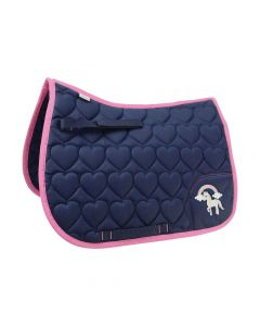Little Rider Little Unicorn Saddle Pad Navy/Pink - Chelford Farm Supplies