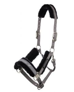 LeMieux Loire Fleece Lined Headcollar Grey