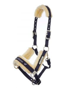 LeMieux Loire Fleece Lined Headcollar Navy