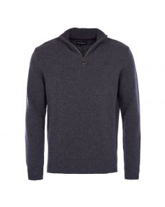 Barbour Mens Essential Half Zip Sweater Charcoal