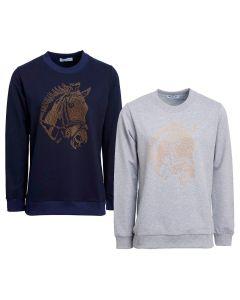 Montar Ladies Evie Horsehead Rivets Sweatshirt