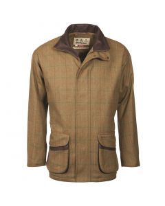 Barbour Mens Moorhen Wool Jacket Olive Brown Check