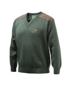 Beretta Mens V Neck Sweater Pheasant Green