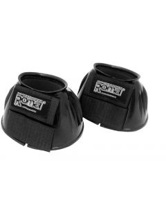 Roma Double Tape PVC Ribbed Bell Over Reach Boots Black