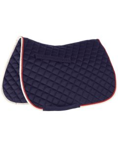 Roma Grand Prix All Purpose Saddle Pad Navy/Red/White - Chelford Farm Supplies