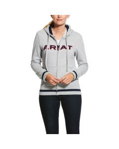 Ariat Ladies Logo Full Zip Hoodie