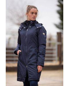 Mark Todd Ladies Long Waterproof Performance Coat Navy