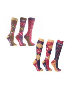 Toggi Ladies 3 Pack Chestermere Socks - Chelford Farm Supplies