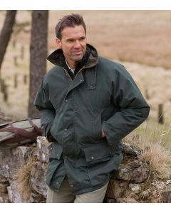 Hoggs of Fife Padded Waxed Jacket Olive