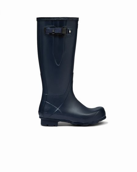 Hunter Womens Norris Field Side Adjustable Wellington Boot Navy