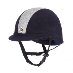 Charles Owen Junior YR8 Sparkle Riding Hat Navy / Silver