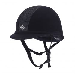 Charles Owen Junior YR8 Sparkle Riding Hat Navy