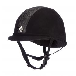 Charles Owen Junior YR8 Sparkle Riding Hat Black