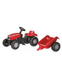 Rolly Toys RollyKid Massey Ferguson Ride on Tractor & Trailer