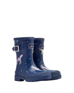 Joules Junior Girls Printed Wellington Boots