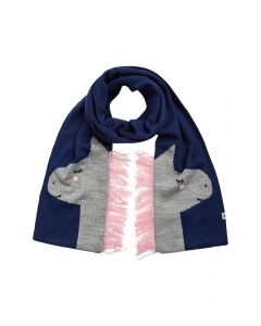 Joules Kids Girls Chummy Knitted Scarf Grey Horse