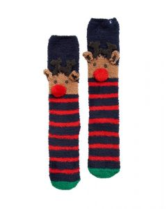 Joules Ladies Christmas Fluffy Socks